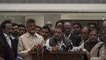 Congress President Rahul Gandhi addresses media after opposition parties meet